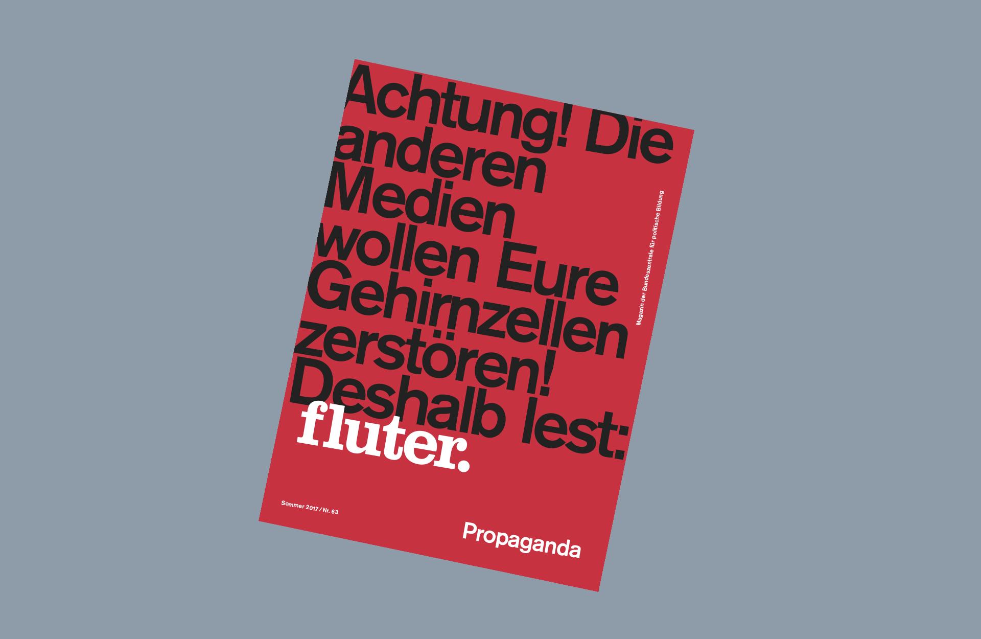 Cover fluter Magazin 63 Propaganda